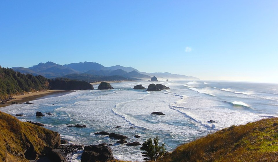 The northern coast of Oregon.
