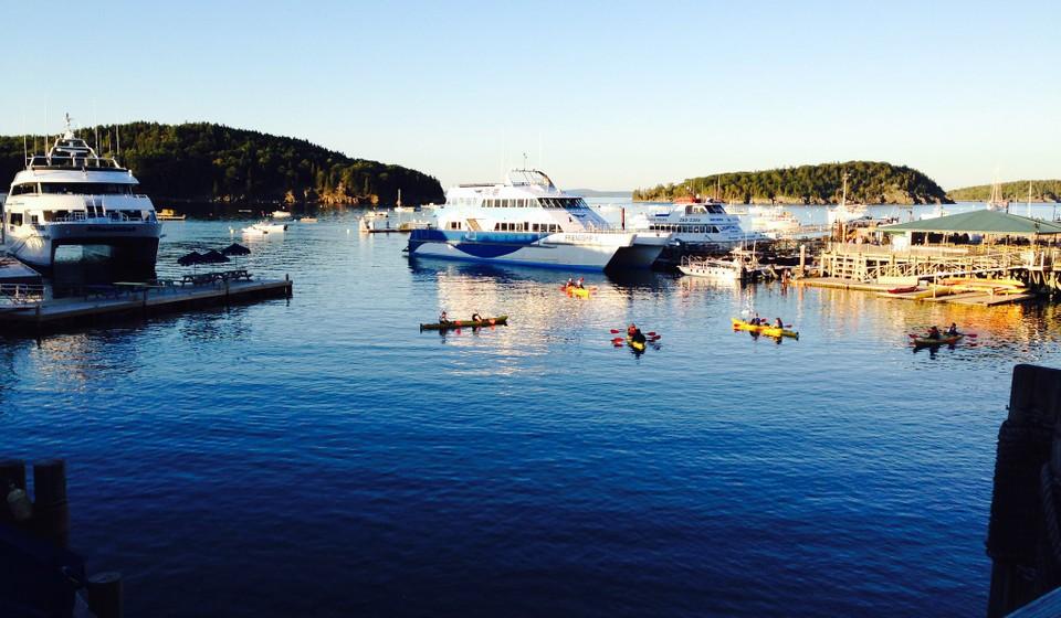 Boat dock in Bar Harbor, Maine.