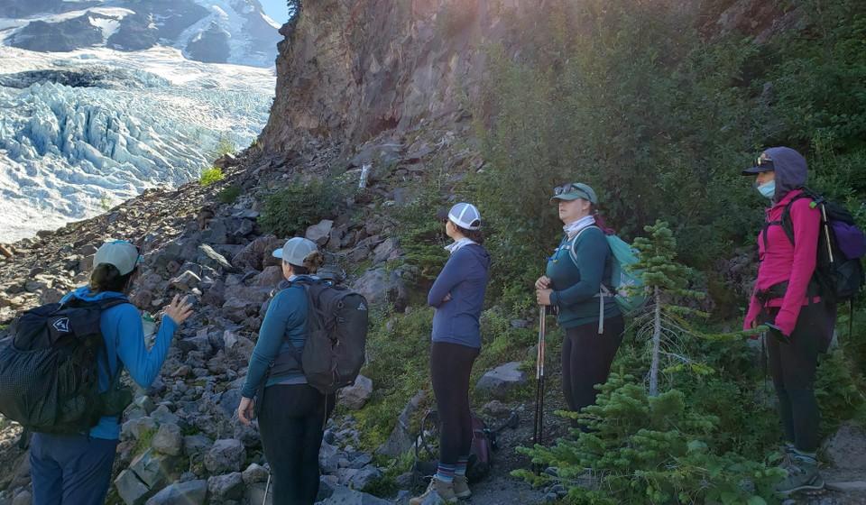 Women's group trip to walk on a glacier