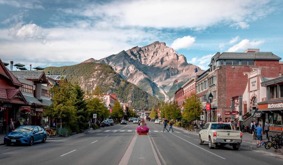 The town of Banff, Alberta, Canada.