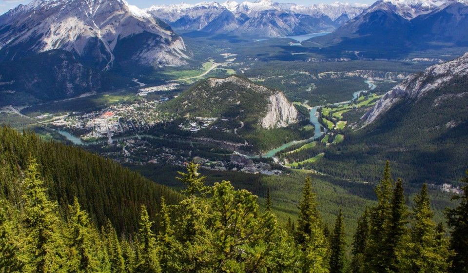 The Town of Banff from Atop Sulphur Mountain.