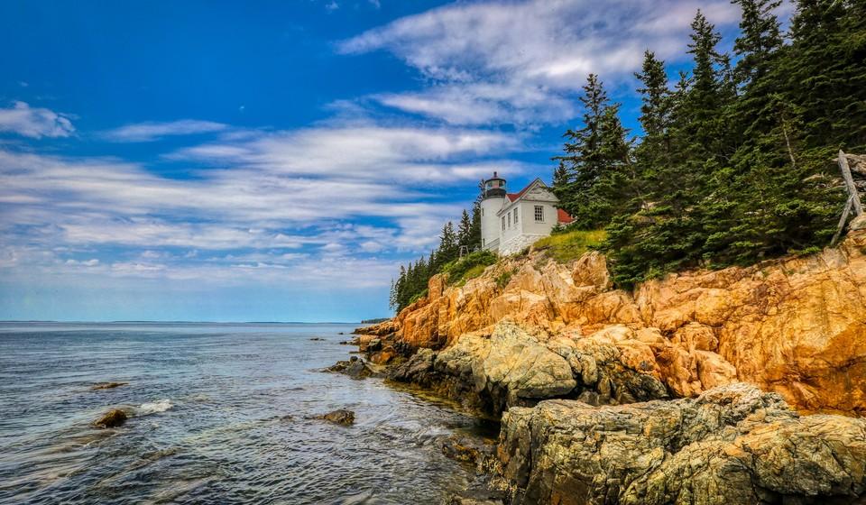 Bass Head Lighthouse at Acadia National Park.